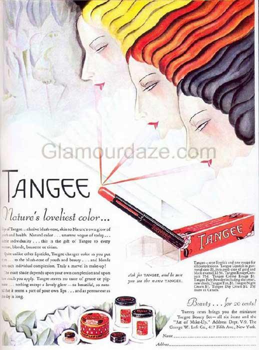 1930s-makeup-ad---Tangee-Lipsticks-1936