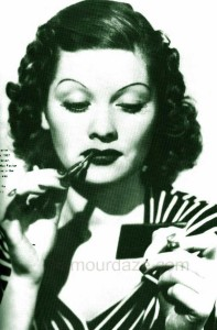 1930s-makeup---max-factor-lipstick---Lucille-Ball