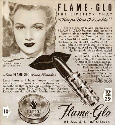 1940s-Flameglo-lipstick-advert