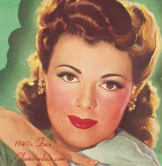 look hair style the history of 1940s makeup daze 8075