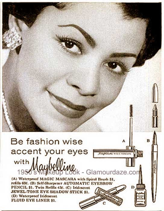 The History of 1950s Makeup | Glamour Daze