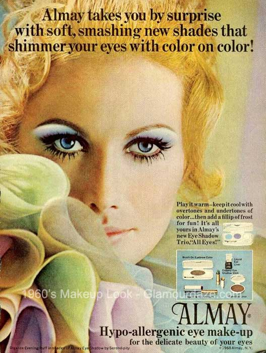 History of 1960s Makeup | Glamour Daze