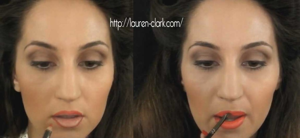Lauren-Clark-1940s-makeup-tutorial---lipstick