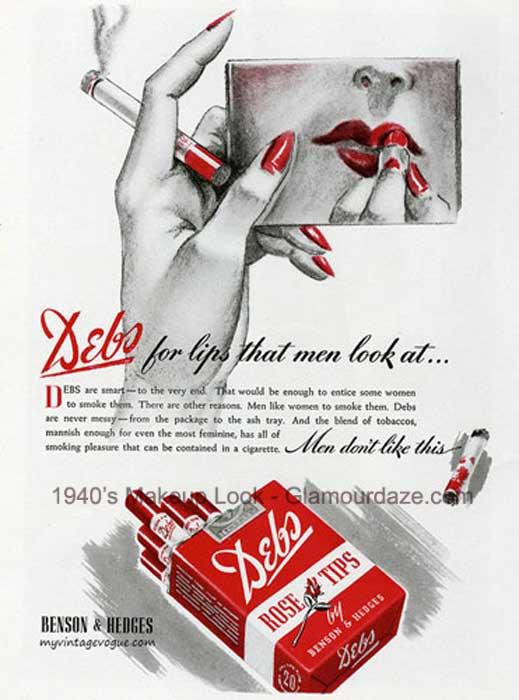 Benson-&-Hedges--Debs--lipstick-inspired-cigarettes-1940