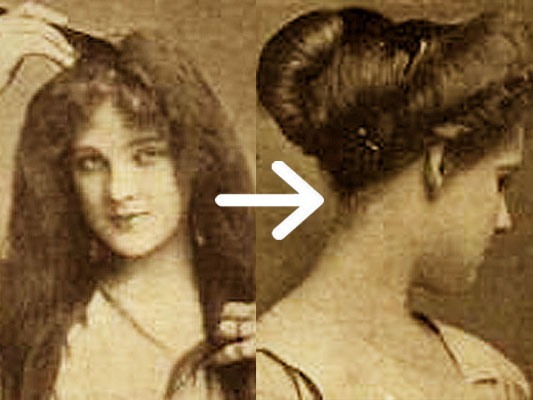 1920s black hairstyles : Easy Edwardian Hairstyle in 10 Minutes Glamourdaze