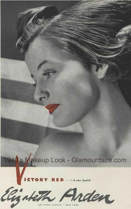 Elizabeth-Arden---Victory-Red-Lipstick-1940s-makeup