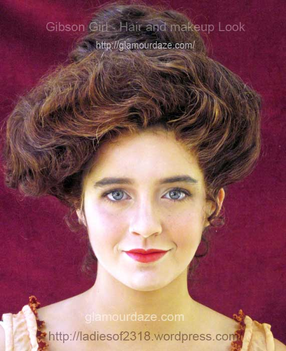 Gibson Girl---hair and makeup look