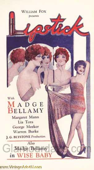 Lipstick--makeup----1920s