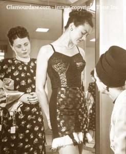 Neiman-Marcus---1945----girl-models-lingerie-for-cstomers-(1)