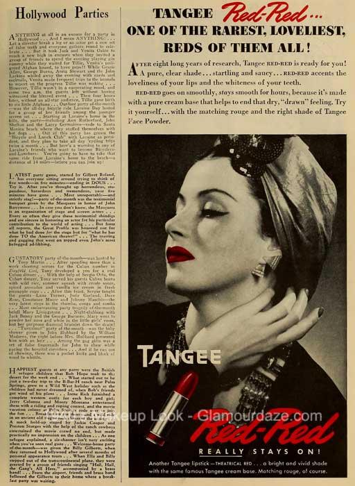 TANGEE makeup 1940's