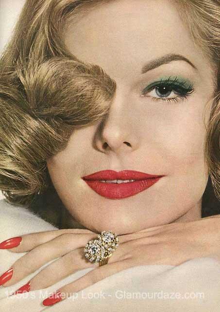 1950s Makeup Face