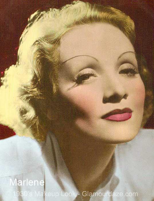 Marlene Dietrich---1930's-makeup-look