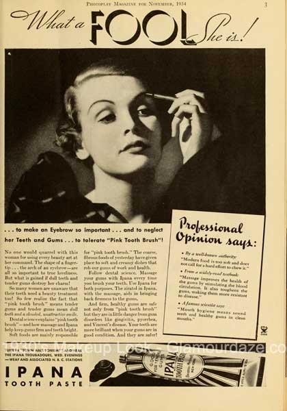 1930's eye makeup