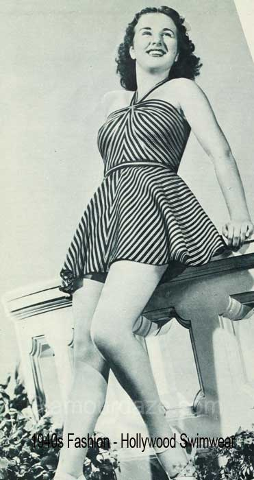 1940s-fashion---Hollywood-stars-swimwear-styles -Deanna Durbin