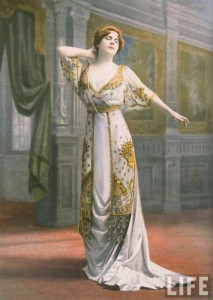 A-model-in-a-dramatic-Paquin-evening-gown-dating-to-1910