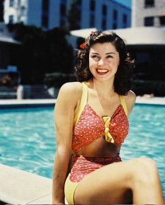 ESTHER-WILLIAMS- by her poolside in 1944