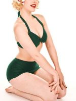 ESTHER-WILLIAMS-Emerald-Green-Retro-Bikini--ForLuna