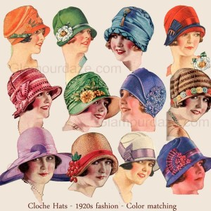 1920s-Fashion---Cloche-Hats -Glamourdaze