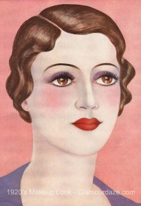 1920's-Makeup--Hollywood-Beauty-Tricks---Brown-haired-type