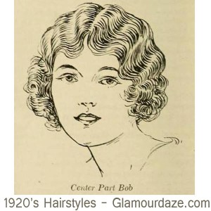 1920s-hairstyles---Centre-Part-Bob