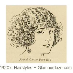1920s-hairstyles---French--Centre-part-Bob