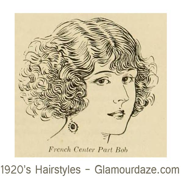 1920s-hairstyles---French--Centre-part-Bobs