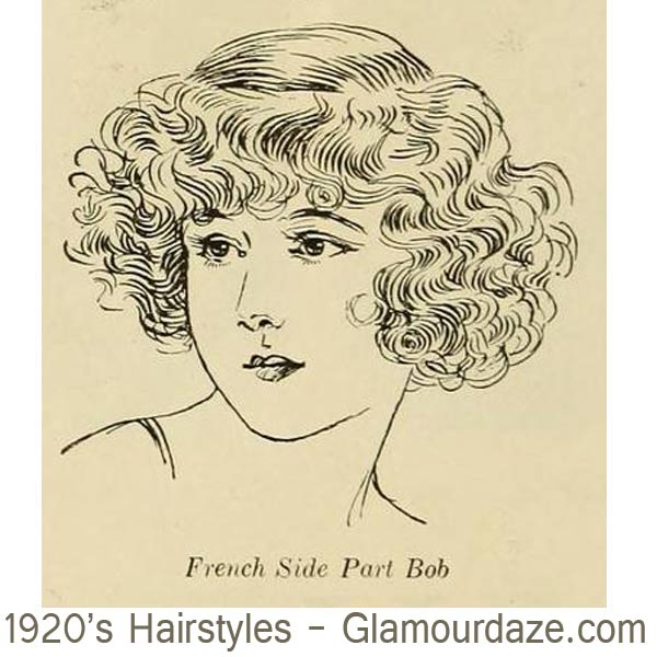 1920s-hairstyles---French-Side-Part-Bobs