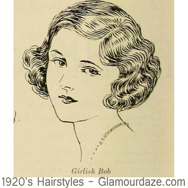 1920s-hairstyles---Girlish-Bobs