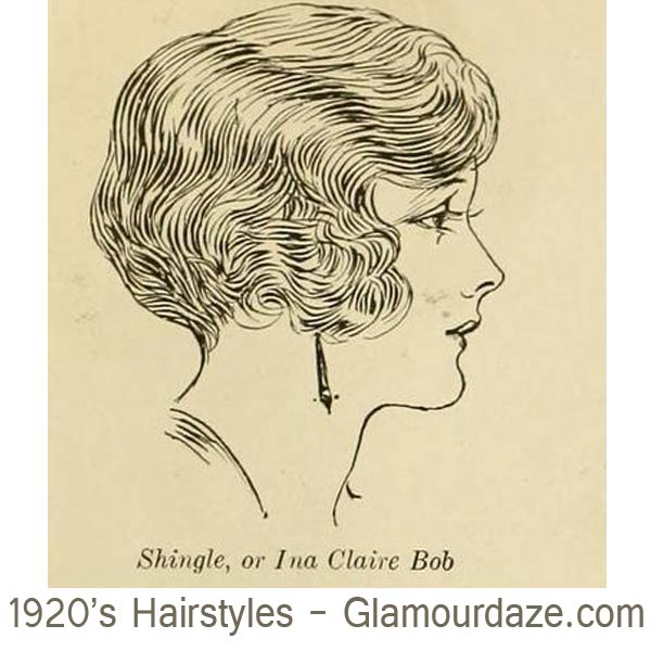1920s short bob hairstyle --shingle-or-Ina-Claire-Bob