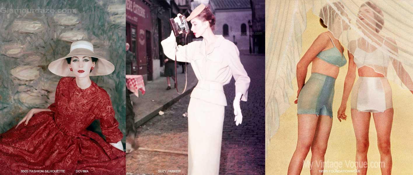 1950s fashion the feminine figure and silhouette glamourdaze