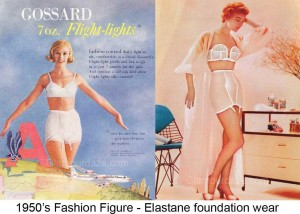 1950s-Fashion---The-Feminine-Figure-and-Silhouette--girdle-and-bra-foundation-wear