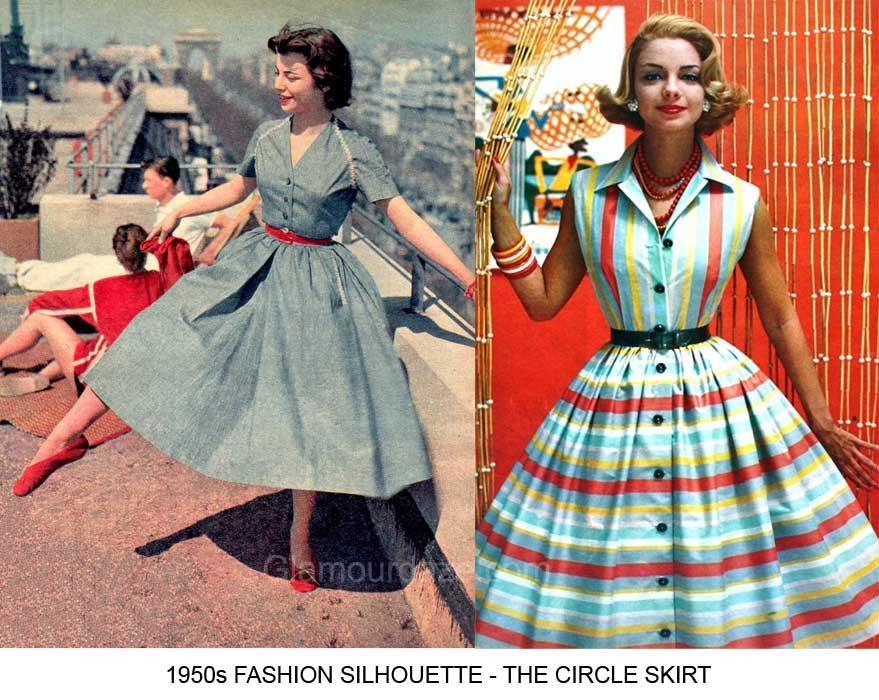 1950s fashion  the feminine figure and silhouette
