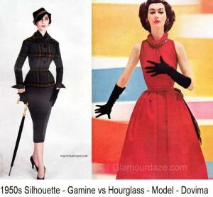 Dovima---1950s-silhouette-gamine-vs-hourglass