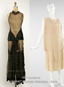 Vionnet -1920s evening frocks -Met Museum