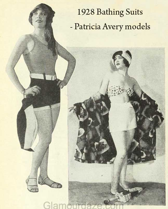 a8c7e3516b74b 1920s Fashion - Hollywood Bathing Suit Styles of 1928 | Glamour Daze