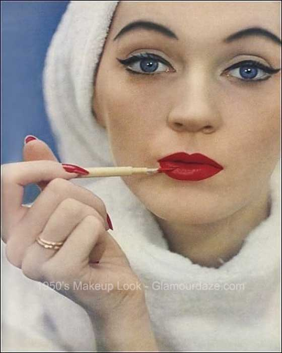 1950s-makeup- party face guide