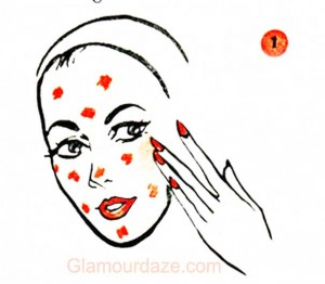 Step1---1950s-Teen-Makeup-Guide---Foundation-spots