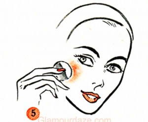1950s-Teen-Makeup-Guide----dry-rouge-over-powder