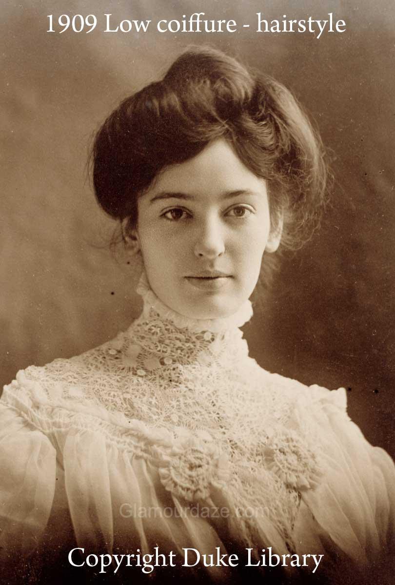 Surprising Women Show The Latest Pompadour Hairstyles 1909 Glamourdaze Short Hairstyles For Black Women Fulllsitofus