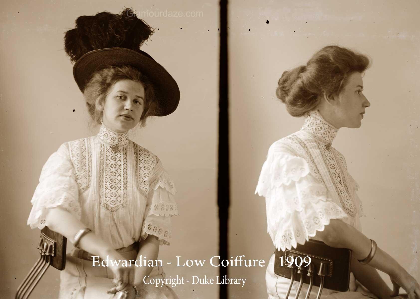 Strange Women Show The Latest Pompadour Hairstyles 1909 Glamourdaze Short Hairstyles For Black Women Fulllsitofus
