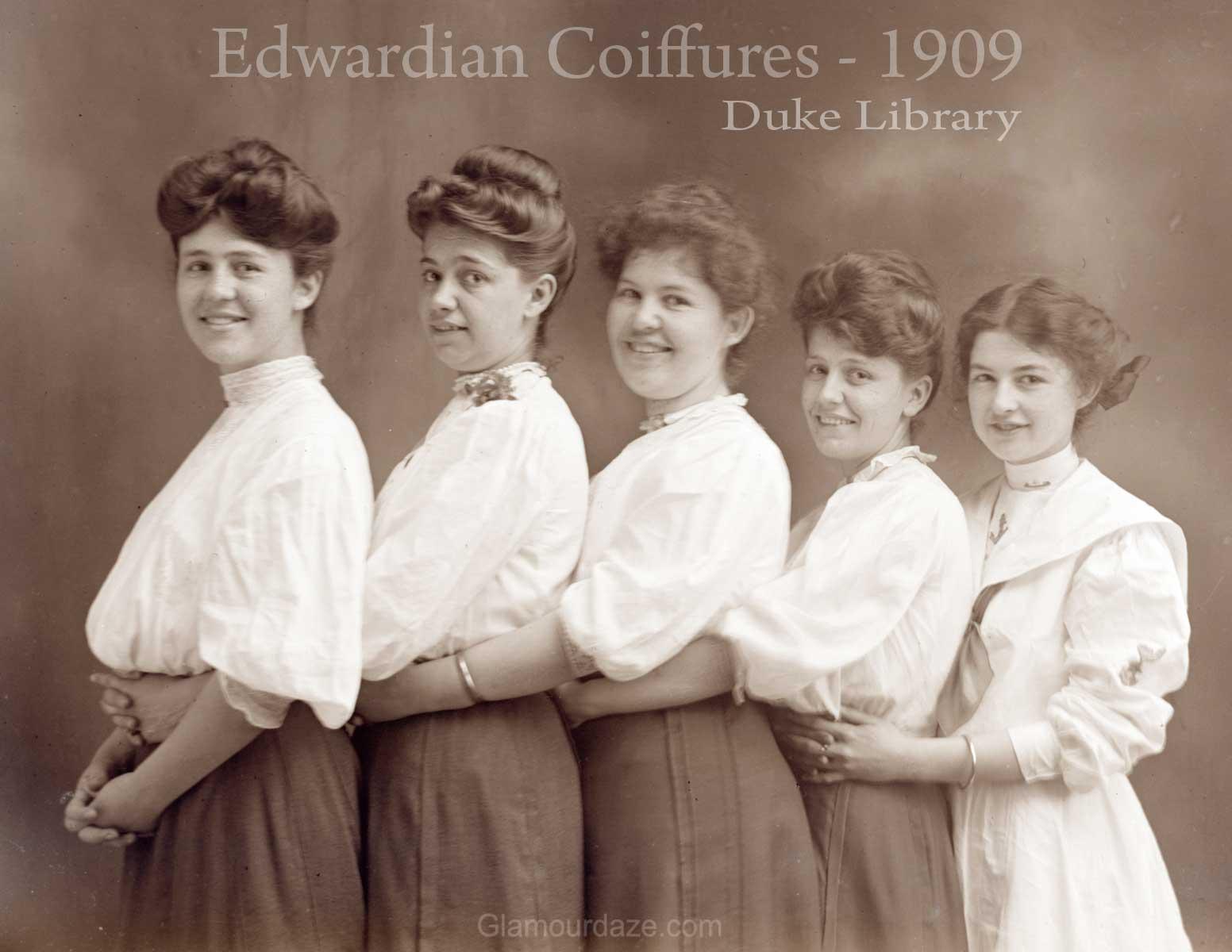 Superb Women Show The Latest Pompadour Hairstyles 1909 Glamourdaze Short Hairstyles For Black Women Fulllsitofus