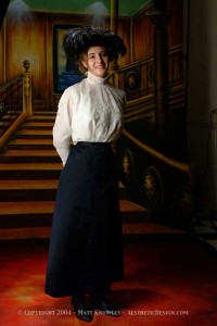 1910-Edwardian-Navy-Silk-Skirt