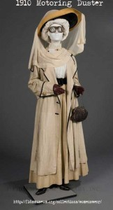 1910- Ladies Motoring-costume--with Duster jacket