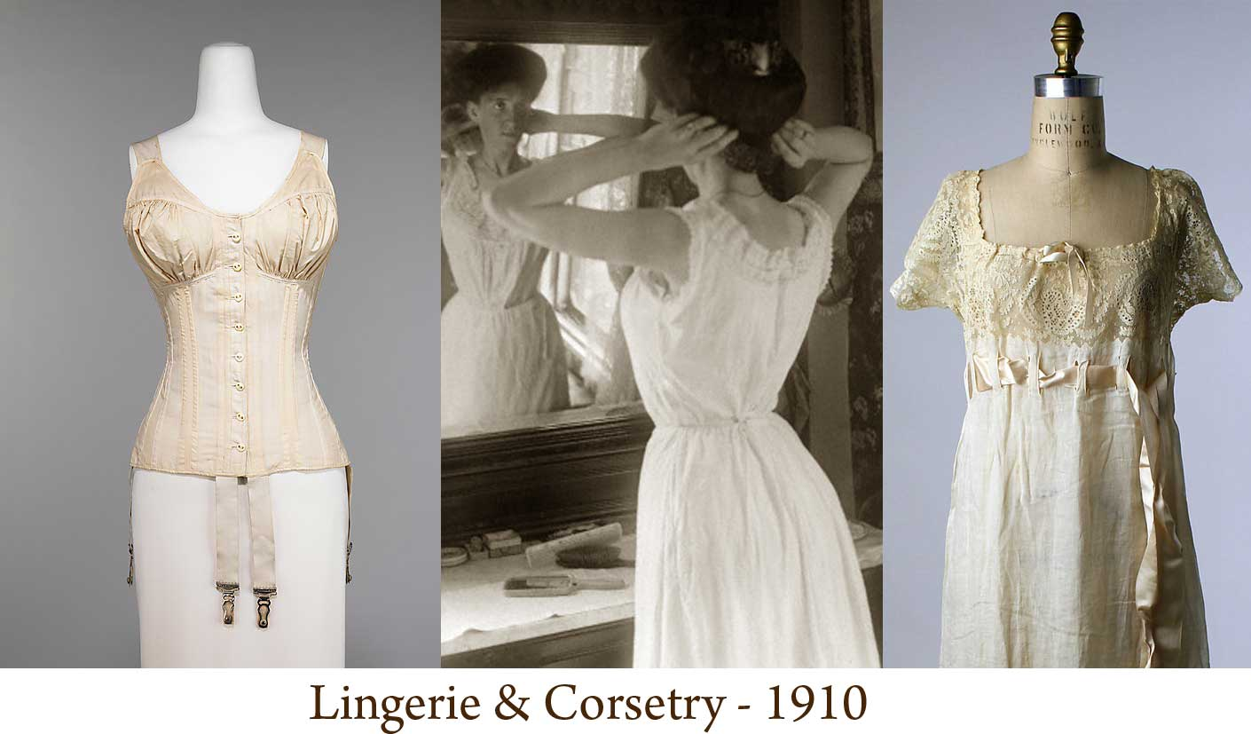Fashion 1910 to 1920 - 1910 Corset And Lingerie Fashion Met Museum