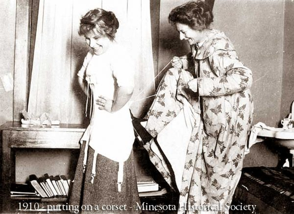 1910---putting-on-a-corset---Minnesota-historical-Society