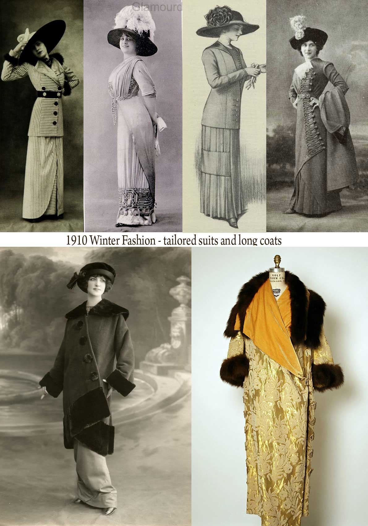 Fashion in 1910   A Womans Complete Winter Wardrobe. | Glamourdaze