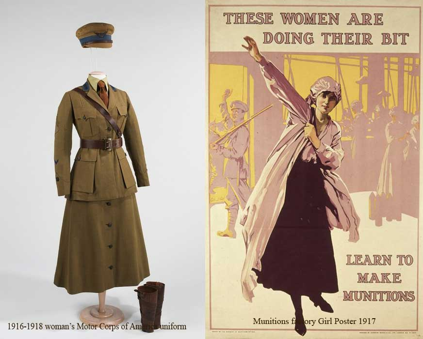While these military groups were reserved for upper class women