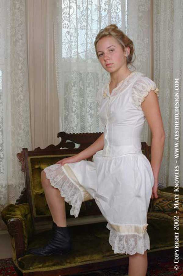 1918 lingerie---3-Piece--Set---Corset-Cover,-Drawers-&-Petticoat