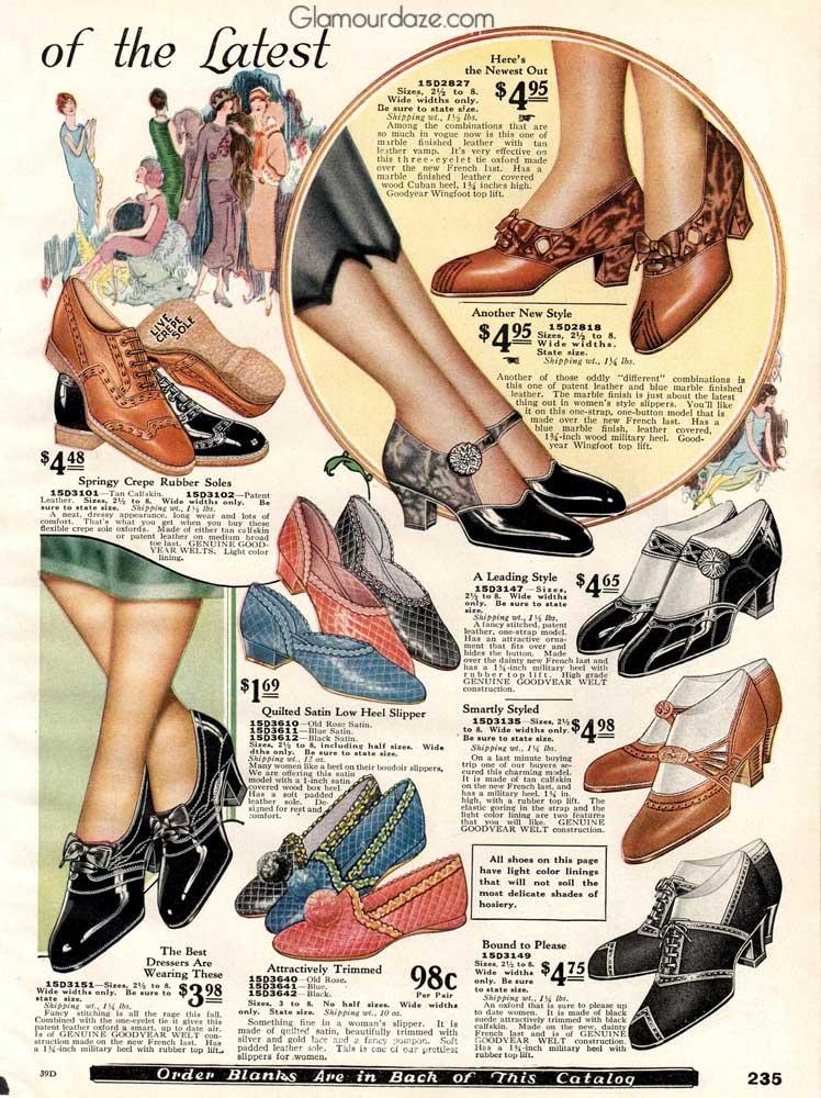 1920s Shoe Styles Sears 1925