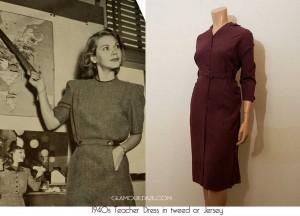 1940-Autumn-wardrobe----teachers-suit---